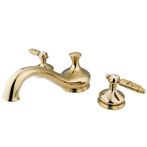 Polished Brass Georgian Lever Roman Tub Filler