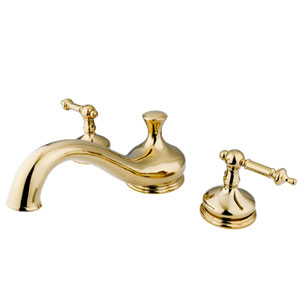 Polished Brass Templeton Lever Roman Tub Filler