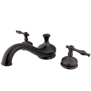New Orleans Oil Rubbed Bronze Two Handle Roman Tub Filler