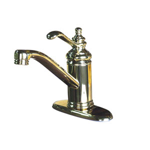 Polished Brass Templeton Lever 4-Inch Single Lever Handle Lavatory Faucet