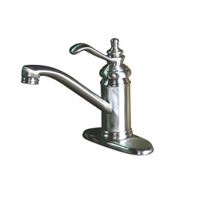 Satin Nickel Templeton Lever 4-Inch Single Lever Handle Lavatory Faucet