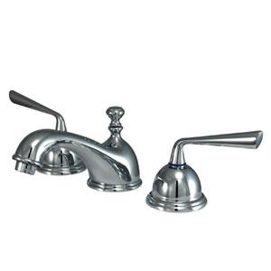 Copenhagen Polished Chrome Double Handle Widespread Lavatory Faucet