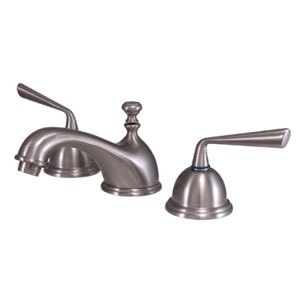 Syracuse Satin Nickel Two Handle 8-Inch to 16-Inch Widespread Lavatory Faucet with Brass Pop-up