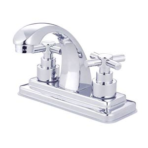 Tampa Chrome Bathroom Faucet with Elinvar Crosses