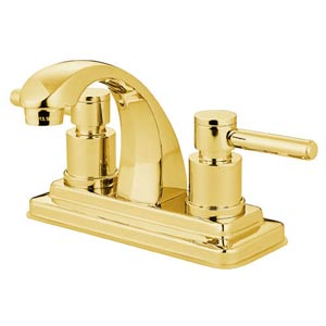 Tampa Polished Brass Bathroom Faucet with Concord Levers