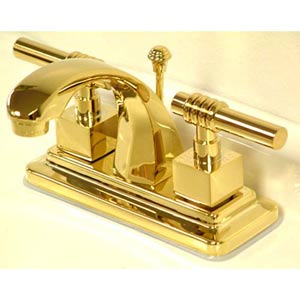 Milano Polished Brass Centerset Bathroom Faucet