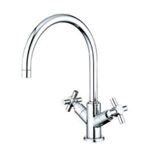 NuVo Chrome Twin Handles Vessel Sink Faucet