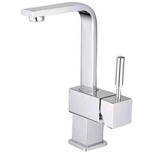 Chrome Metal Lever Single Handle Lavatory Faucet with Pop-Up