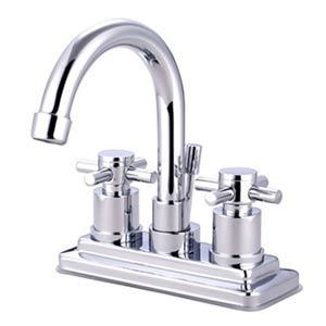 Tampa Chrome Bathroom Faucet with Concord Crosses
