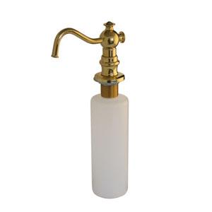 Polished Brass Vintage Soap Dispenser