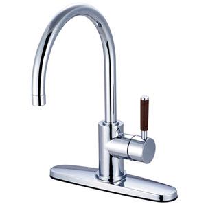 Wilshire Chrome 8-Inch Centerset Low Lead Single Handle Kitchen Faucet
