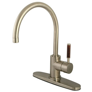 Wilshire Satin Nickel 8-Inch Centerset Low Lead Single Handle Kitchen Faucet