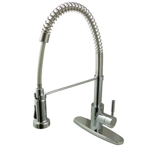 Concord Chrome 8-Inch Centerset Low Lead Single Handle Kitchen Faucet with  Pull-Out Sprayer