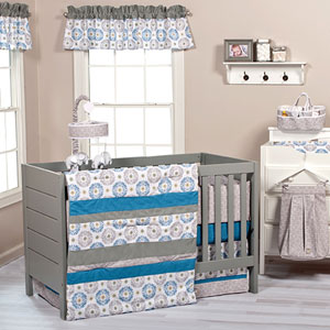 Monaco Three-Piece Crib Bedding Set