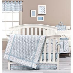 Blue Sky Three-Piece Crib Bedding Set