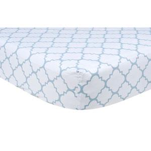 Blue Sky Quatrefoil Fitted Crib Sheet