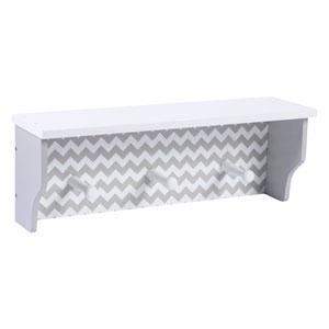 Dove Gray Chevron Wall Shelf