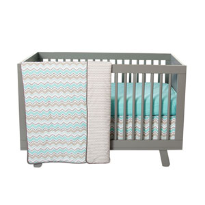 Seashore Waves Three-Piece Crib Bedding Set
