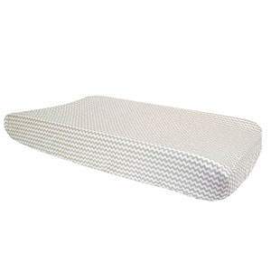 Dove Gray Chevron Changing Pad Cover