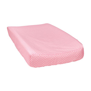 Cotton Candy Dot Changing Pad Cover