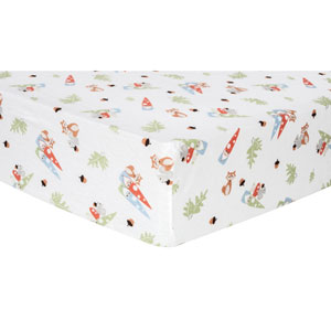 Forest Gnomes Deluxe Flannel Fitted Crib Sheet
