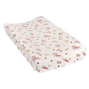 Forest Gnomes Deluxe Flannel Changing Pad Cover
