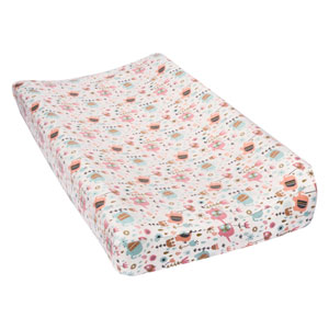 Playful Elephants Deluxe Flannel Changing Pad Cover