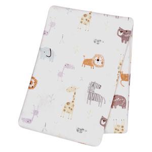 Crayon Jungle Flannel Swaddle Blanket