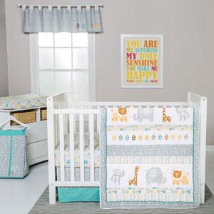 Lullaby Jungle Six-Piece Crib Bedding Set