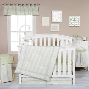 Sea Foam Three-Piece Crib Bedding Set
