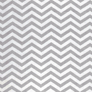 Gray and White Chevron Print Flannel Crib Sheet