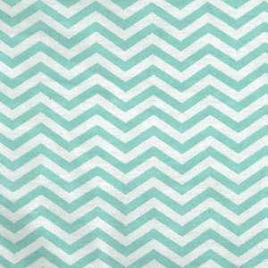 Mint Green and White Chevron Print Flannel Crib Sheet