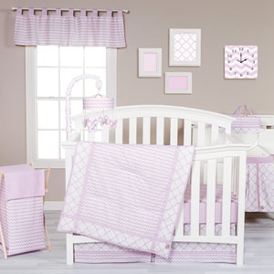 Orchid Bloom Three-Piece Crib Bedding Set