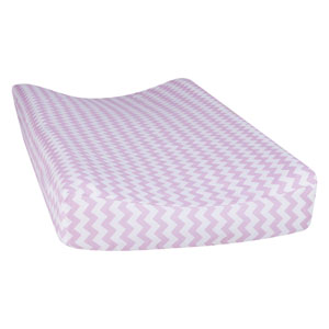 Orchid Bloom Chevron Changing Pad Cover
