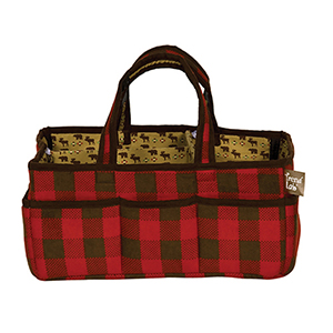 Northwoods Red and Tan Storage Caddy