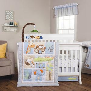 Jungle Fun Six-Piece Crib Bedding Set