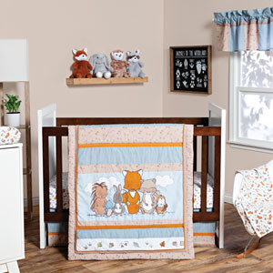 Wild Woods Bunch Three-Piece Crib Bedding Set