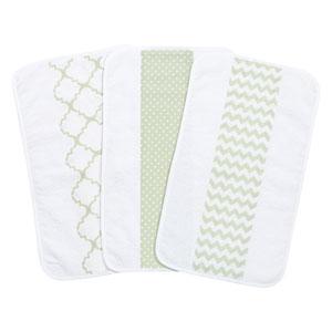 Sea Foam Jumbo Burp Cloth, Set of Three