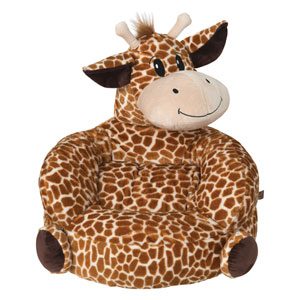 Childrens Plush Giraffe Character Chair