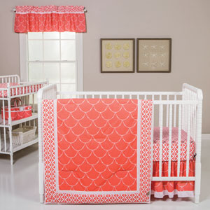 Shell Three-Piece Crib Bedding Set