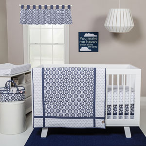 Hexagon Three-Piece Crib Bedding Set