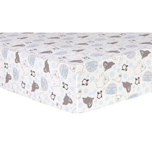Igloo Friends Deluxe Flannel Fitted Crib Sheet