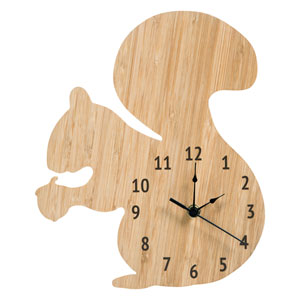 Bamboo Squirrel Wall Clock