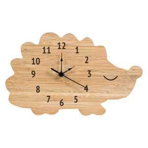 Bamboo Hedgehog Wall Clock