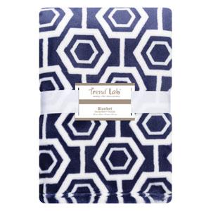 Hexagon Plush Baby Blanket