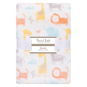 Crayon Jungle Plush Baby Blanket