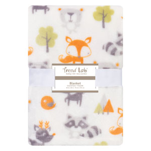Forest Pals Plush Baby Blanket