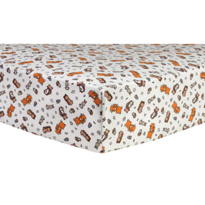 Wild Bunch Deluxe Flannel Fitted Crib Sheet