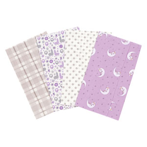 Llamas and Unicorns Flannel Burp Cloth, Set of Four