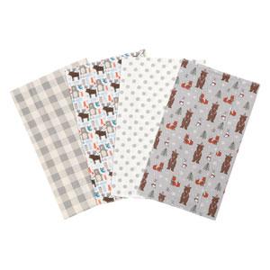Scandi Cocoa Flannel Burp Cloth, Set of Four